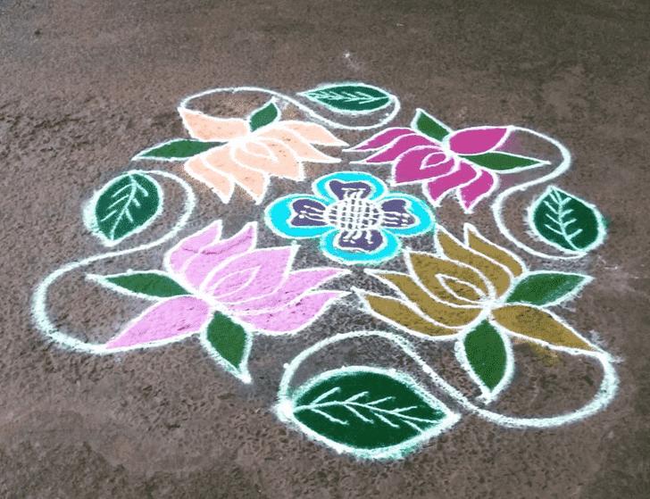 Beauteous Somvati Amavasya Rangoli
