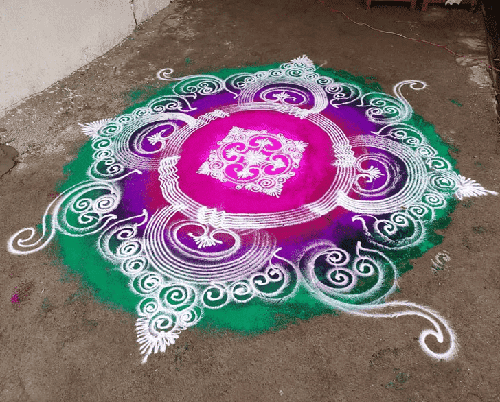 Captivating Somvati Amavasya Rangoli