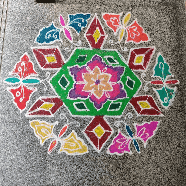 Charming Somvati Amavasya Rangoli