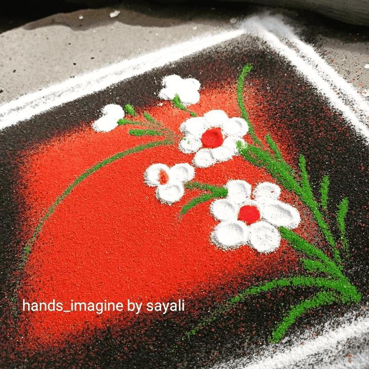 Hard Somvati Amavasya Rangoli