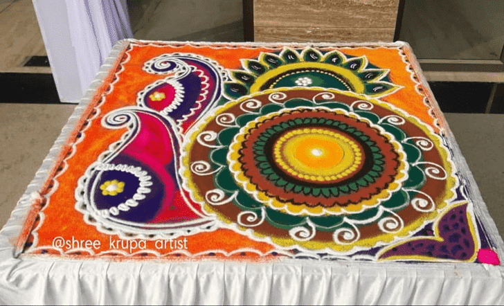 Exquisite Somvati Amavasya Rangoli