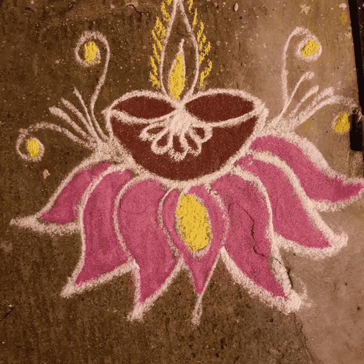 Good Looking Somvati Amavasya Rangoli