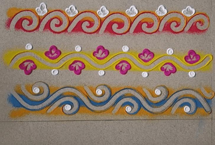 Lovely Somvati Amavasya Rangoli Design
