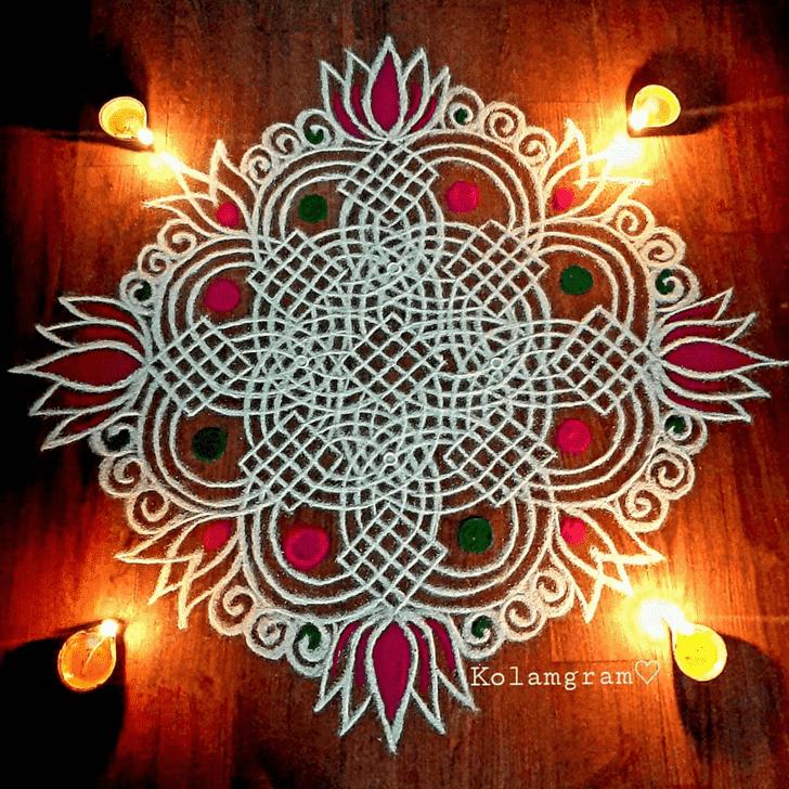 Magnetic Somvati Amavasya Rangoli