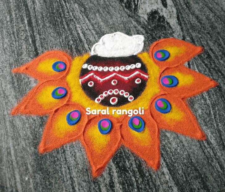 Pretty Somvati Amavasya Rangoli