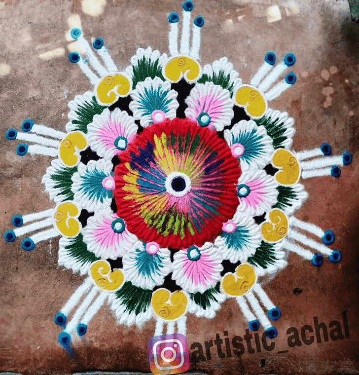 Admirable Stunning Rangoli Design