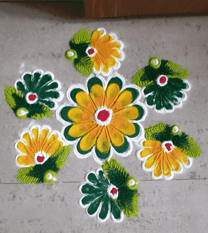 Adorable Stunning Rangoli