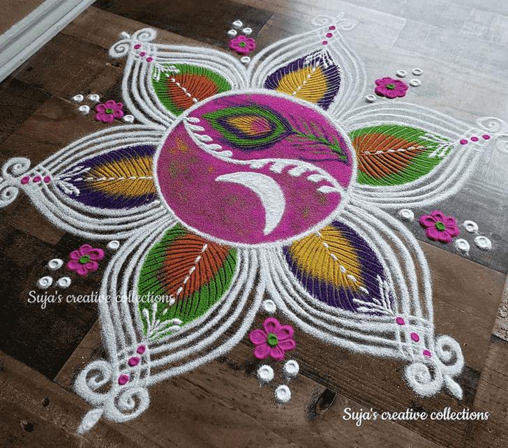 Adorable Swaminarayan Jayanti Rangoli