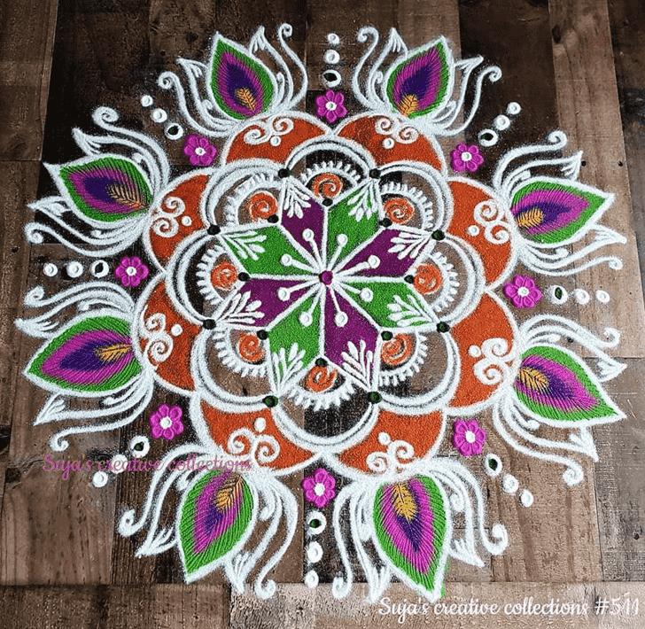 Alluring Swaminarayan Jayanti Rangoli