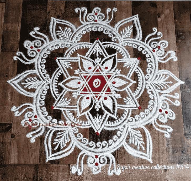 Angelic Swaminarayan Jayanti Rangoli
