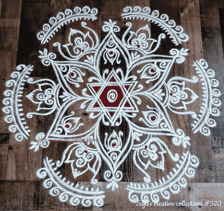 Beauteous Swaminarayan Jayanti Rangoli