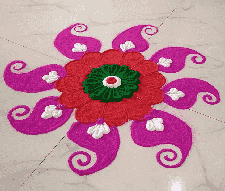 Charming Swaminarayan Jayanti Rangoli