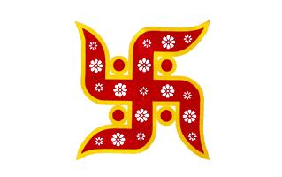 Swastik Rangoli Design