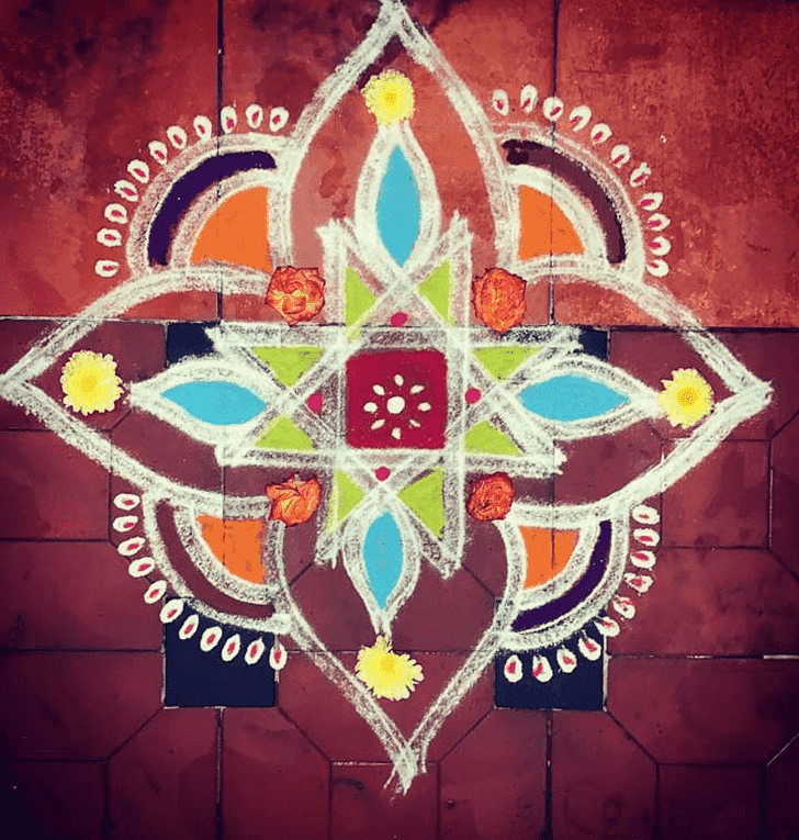 Admirable Tamil Rangoli Design