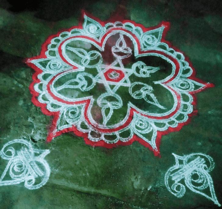 Angelic Tamil Rangoli