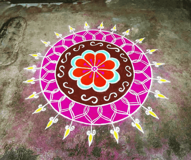 Alluring Tula Sankranti Rangoli