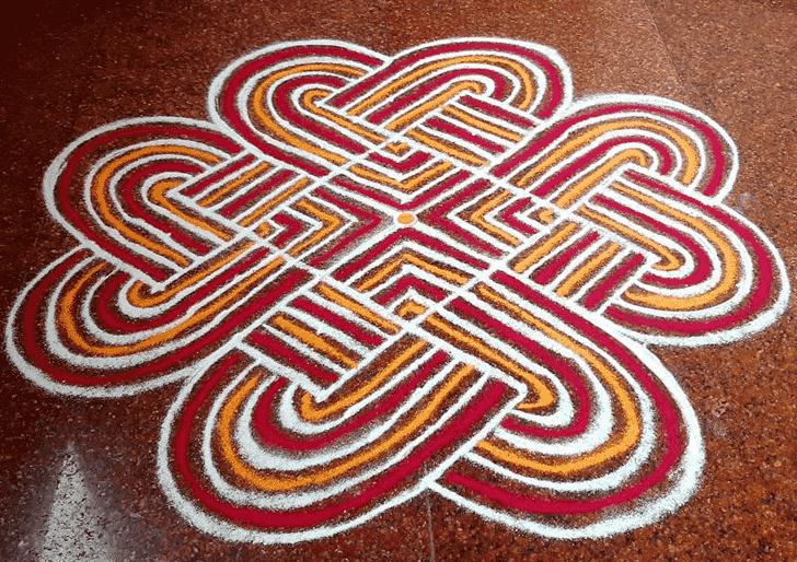 Alluring Ugadi Rangoli
