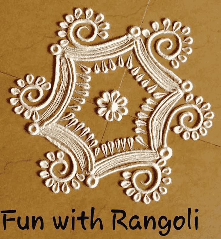 Appealing Ugadi Rangoli