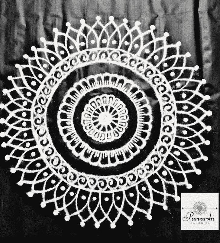 Admirable Unique Rangoli Design
