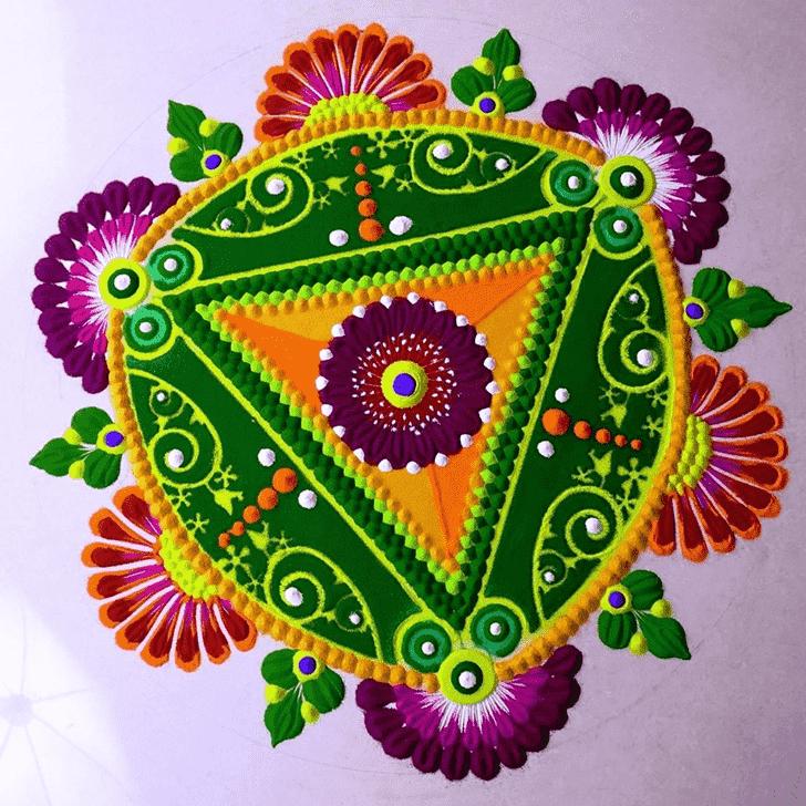 Admirable Utpanna Ekadashi Rangoli Design