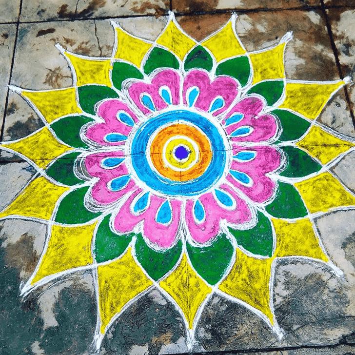 Amazing Varalakshmi Pooja Rangoli