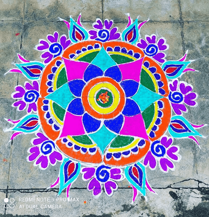 Captivating Varalakshmi Pooja Rangoli