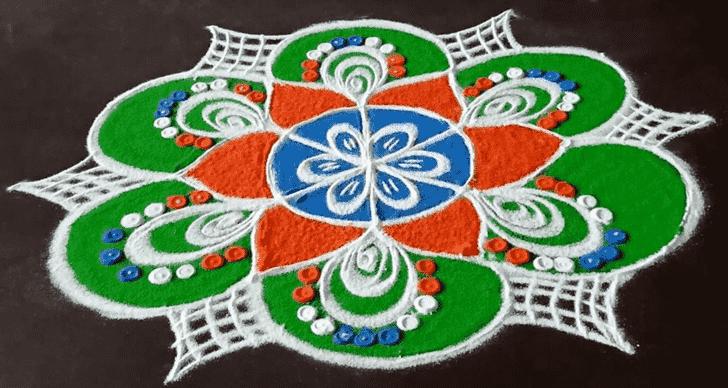 Varalakshmi Pooja Rangoli