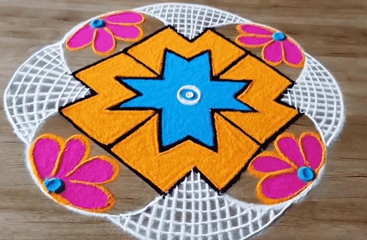 Enticing Varalakshmi Pooja Rangoli