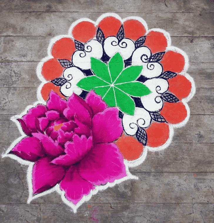 Ideal Varalakshmi Pooja Rangoli