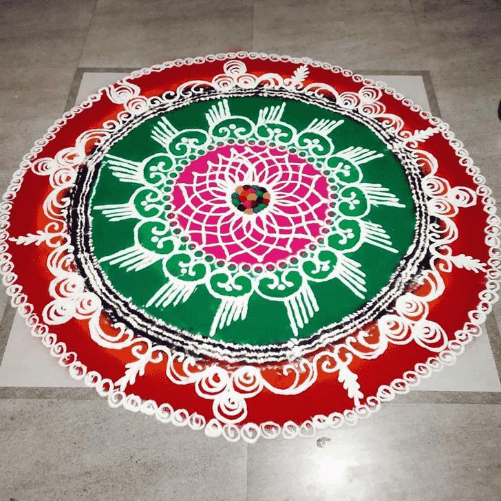 Magnificent Varalakshmi Pooja Rangoli