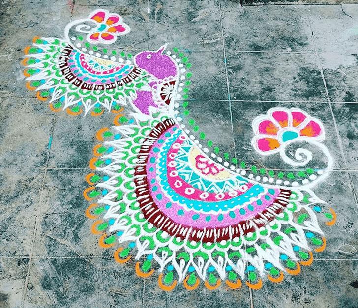 Marvelous Varalakshmi Pooja Rangoli