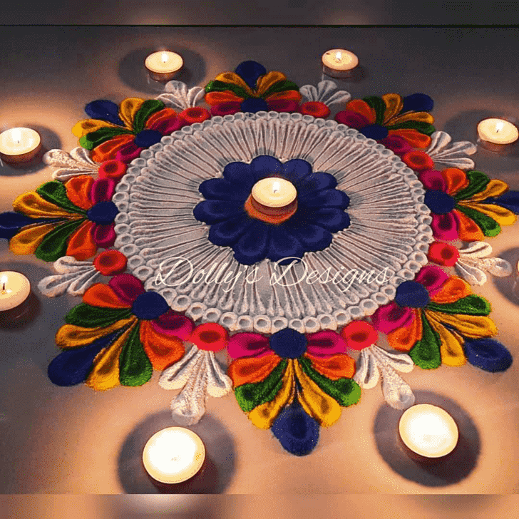 Nice Varalakshmi Pooja Rangoli