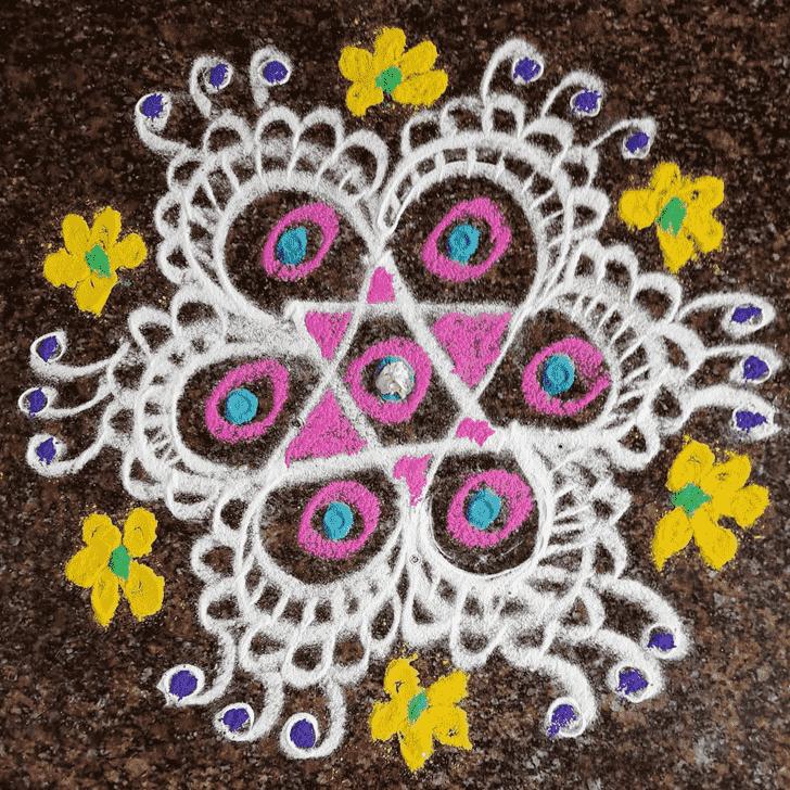 Radiant Varalakshmi Pooja Rangoli