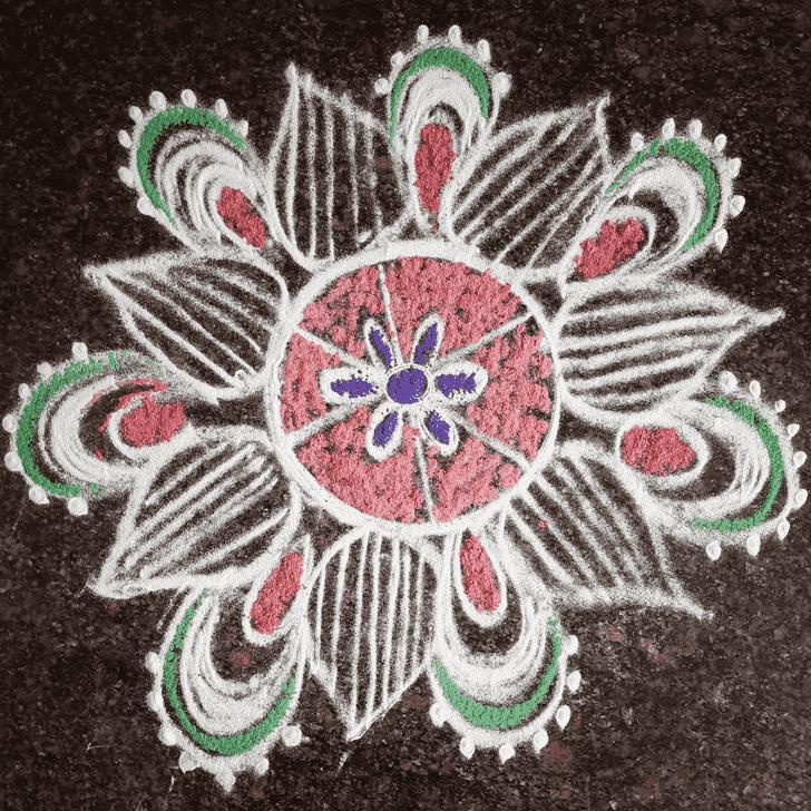 Ravishing Varalakshmi Pooja Rangoli