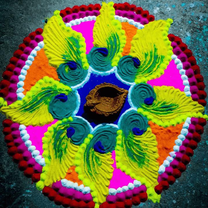 Splendid Varalakshmi Pooja Rangoli