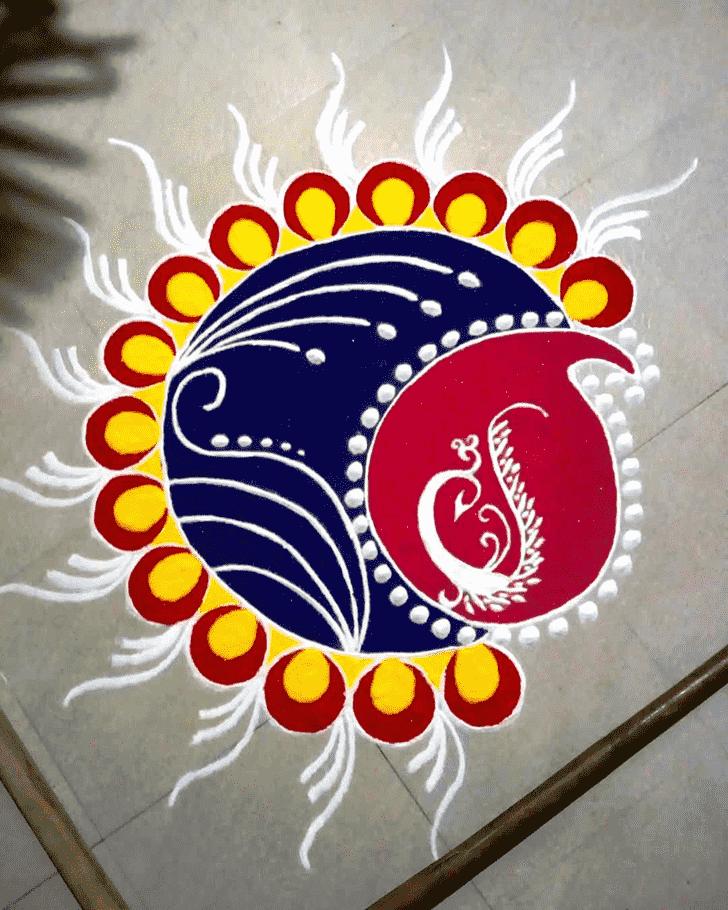Superb Varalakshmi Pooja Rangoli