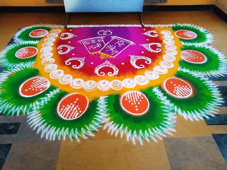 Wonderful Varalakshmi Pooja Rangoli Design