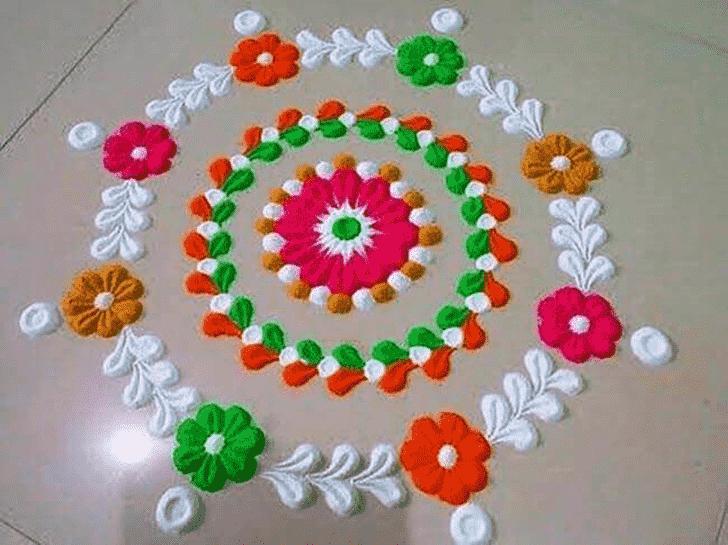 Alluring Varuthini Ekadashi Rangoli