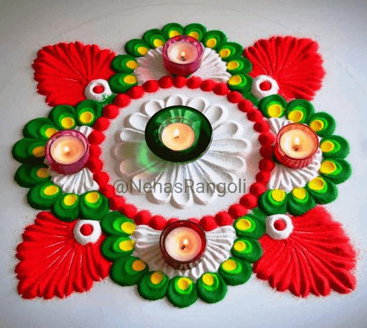 Angelic Vishwakarma Puja Rangoli