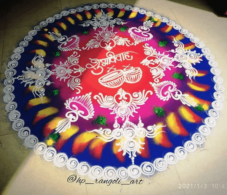 Admirable Wedding Rangoli Design