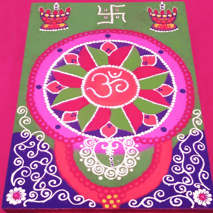 Bewitching Wedding Rangoli