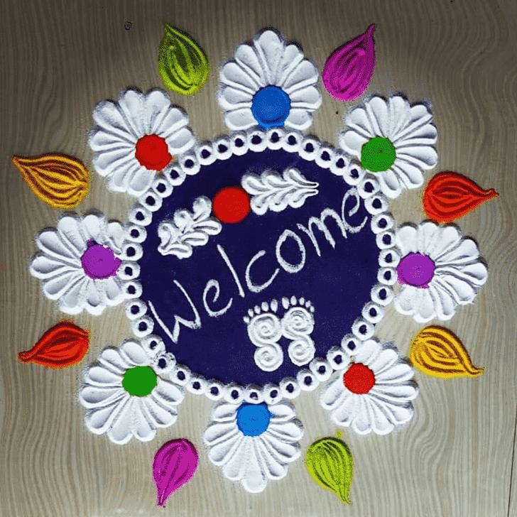 Admirable Welcome Rangoli Design