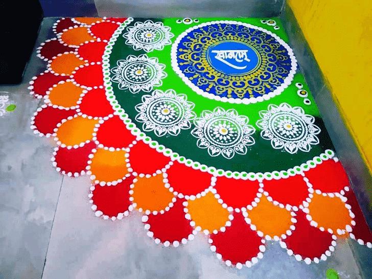 Alluring Welcome Rangoli
