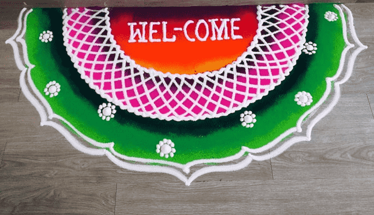 Bewitching Welcome Rangoli