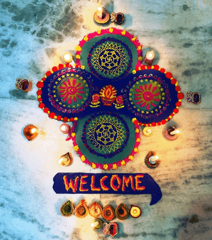 Captivating Welcome Rangoli
