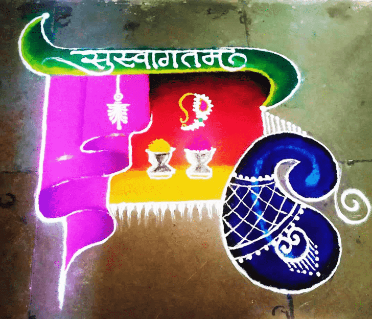 Charming Welcome Rangoli