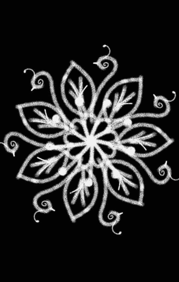 Admirable White Rangoli Design