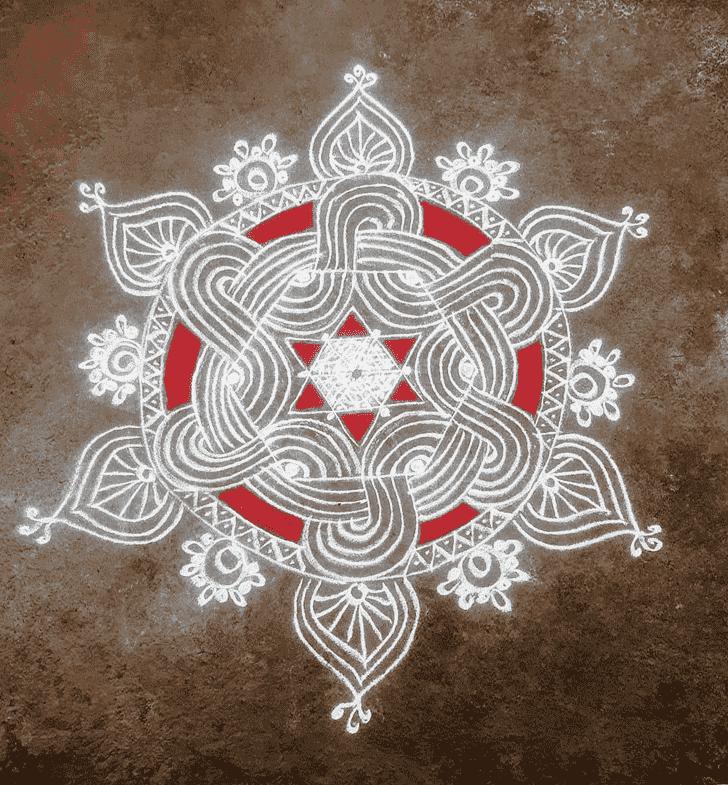 Alluring White Rangoli