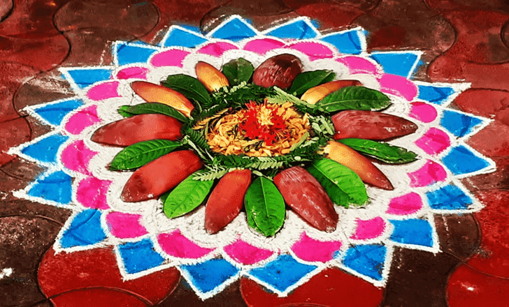 Awesome Yamuna Chhath Rangoli