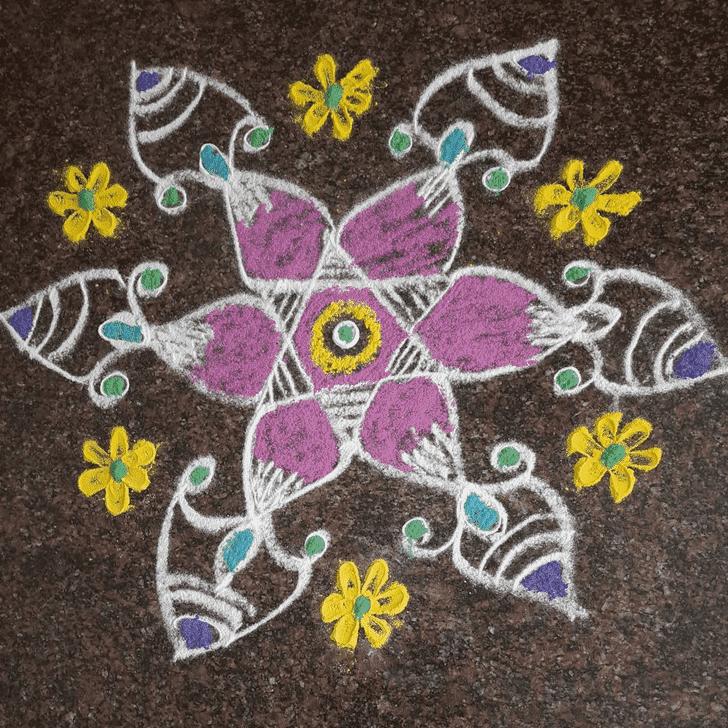 Splendid Yamuna Chhath Rangoli